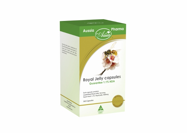 Royal Jelly 1.1% HDA1000mg capsules, 365 capsules - Click Image to Close